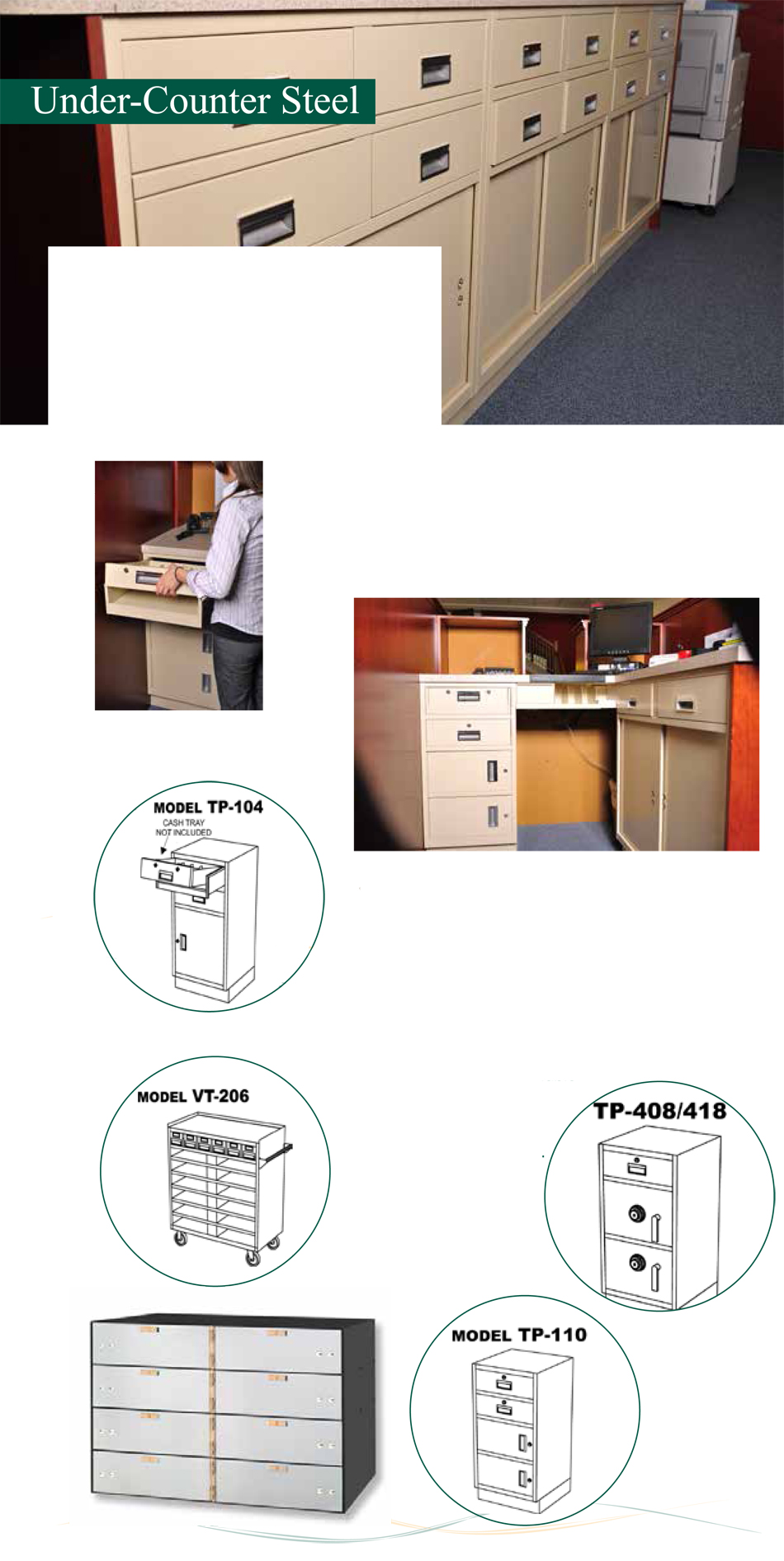 Bank Design and Equipment Under Counter Steel